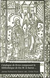 Catalogue de livres composant la bibliothéque de feu M. le baron James de Rothschild: Histoire. Supplément. 1893