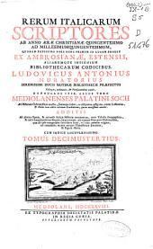 Rerum italicarum scriptores: ab anno aerae christianae quingentesimo ad millesimumquingentesimum, Volume 12