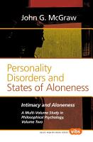 Personality Disorders and States of Aloneness PDF