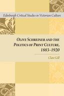 OLIVE SCHREINER AND THE POLITICS OF PDF
