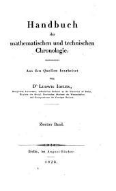 Handbuch der mathematischen und technischen chronologie: Band 2