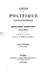 Cours de politique: Volume1