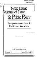 Symposium on Law   Politics as Vocation PDF