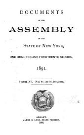 Documents of the Assembly of the State of New York: Volume 15