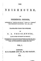 The Novels of Frederika Bremer: The neighbors