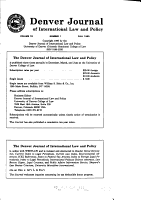 Denver Journal of International Law and Policy PDF