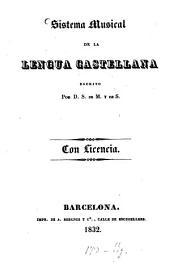 Sistema musical de la lengua castellana: Volumen 1