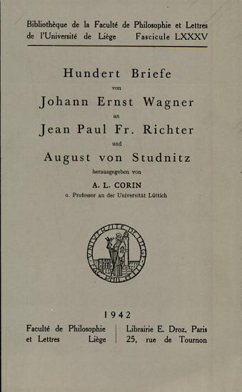 Bibliotheque de la Faculte de Philosophie et Lettres de l Universite de Liege PDF