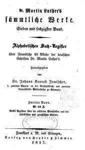 Dr. Martin Luther's sämmtliche Werke: Band 67