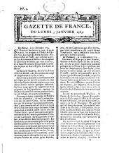 Gazette de France: journal politique. 1763