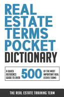 Real Estate Terms Pocket Dictionary Book