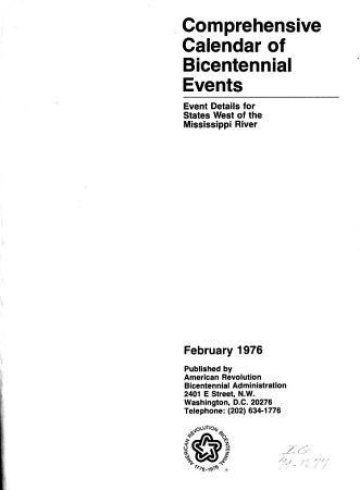 Comprehensive Calendar of Bicentennial Events  February 1976 PDF