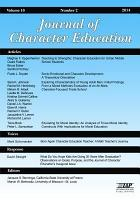 Journal of Character Education Issue PDF