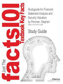 Studyguide for Financial Statement Analysis and Security Valuation by Penman  Stephen  ISBN 9780078025310