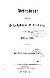 Gesetzsammlung für das Herzogthum Oldenburg: Band 13