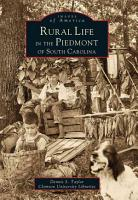 Rural Life in the Piedmont of South Carolina PDF