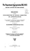 War Department Appropriation Bill  1923 PDF