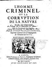 L'homme criminel ou la corruption de la nature par le péché