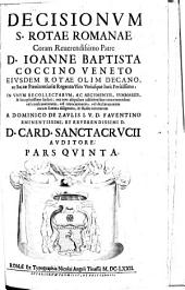 Decisionum S. rotae romanae coram ...