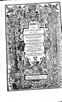 The Second Part of the Institutes of the Lawes of England PDF