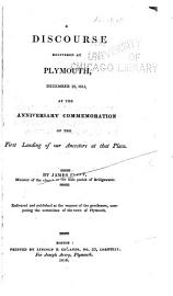 A Discourse Delivered At Plymouth December 22  1815