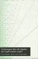 Vorlesungen   ber die algebra der logik PDF