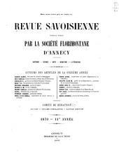 Revue savoisienne: Volumes11à13