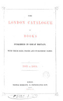The London Catalogue of Books Published in Great Britain  With Their Sizes  Prices  and Publishers  Names  1831 to 1855 PDF