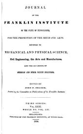 Journal of the Franklin Institute: Volume 31; Volume 61