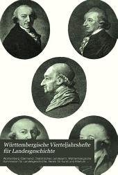 Württembergische Vierteljahrshefte für Landesgeschichte: Band 7