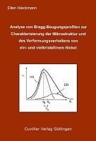 Analyse von Bragg Beugungsprofilen zur Charakterisierung der Mikrostruktur und des Verformungsverhaltens von ein  und vielkristallinem Nickel PDF