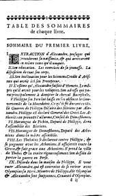 Quinte-Curce, De la vie et des actions d'Alexandre le Grand: Volume1