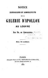 Notice historique et descriptive sur la Galerie d'Apollon au Louvre par ...