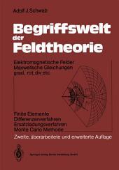 Begriffswelt der Feldtheorie: Elektromagnetische Felder Maxwellsche Gleichungen grad, rot, div etc. Finite Elemente Differenzenverfahren Ersatzladungsverfahren Monte Carlo Methode, Ausgabe 2