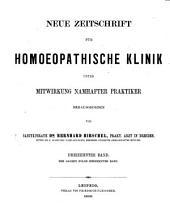 Hirschel's Zeitschrift für homöopathische Klinik: Bände 17-19