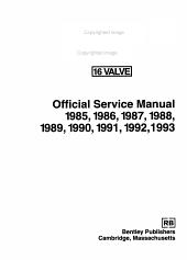Saab 900  16 Valve Official Service Manual  1985 1993 PDF