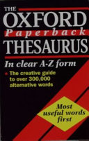 The Oxford Paperback Thesaurus Book PDF