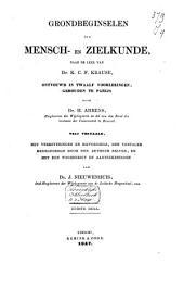 Grondbeginselen der mensch- en zielkunde naar de leer van Dr. K. C. F. Krause