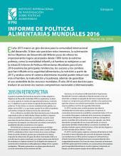 Informe de políticas alimentarias mundiales 2016: Sinopsis