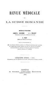Revue médicale de la Suisse romande: Volume5