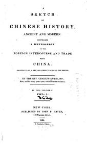 A Sketch of Chinese History: Ancient and Modern, Volume 1