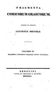 Fragmenta Comicorum Graecorum: Τόμος 4