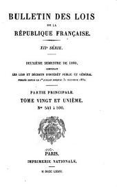 Bulletin des lois de la République française: Volume21