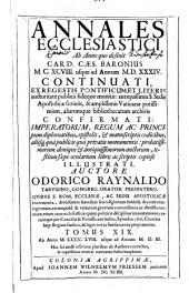 Annales ecclesiastici: continuatio 1198 - 1567, Volume 19