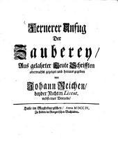 Herrn Christian Thomasii ... Kurtze Lehr-Sätze von dem Laster der Zauberey