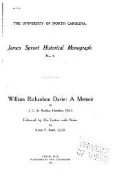 William Richardson Davie: A Memoir