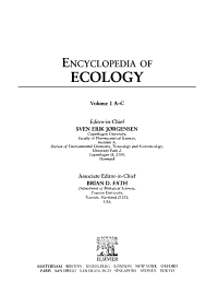 Encyclopedia of Ecology