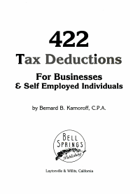 422 Tax Deductions for Businesses   Self Employed Individuals