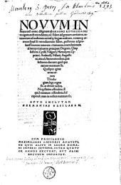 Novum instrumentum omne, diligenter ab Erasmo Roterodamo recognitum & emendatum, ...