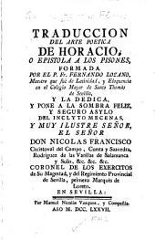 Traduccion del Arte poetica de Horacio: o Epistola a los Pisones